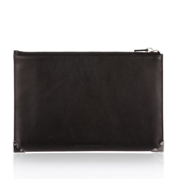 Alexander Wang Black Prisma Clutch Silver Finishes 70be2fde48d22